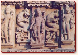 Sculptures, Adinath temple, Khajuraho
